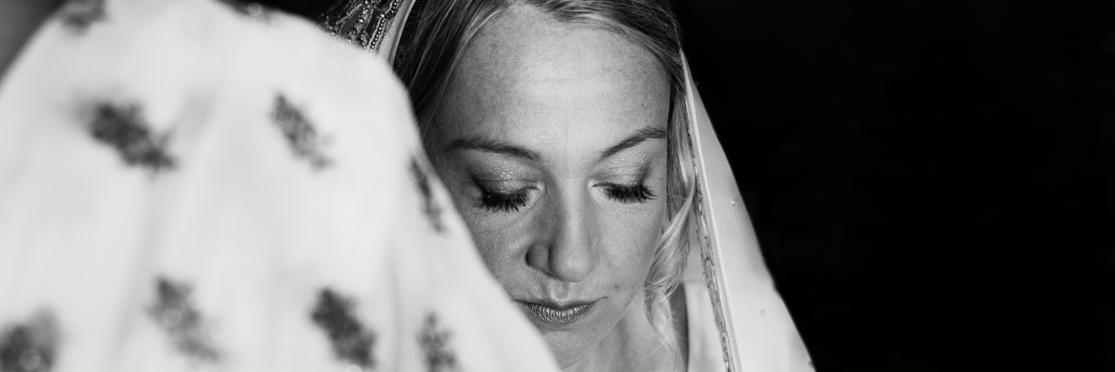Stoke Place Wedding Bride looking thoughtful