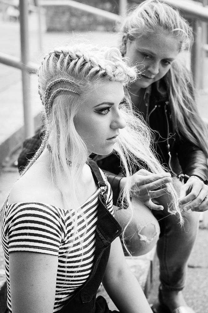 Model preparation black and white