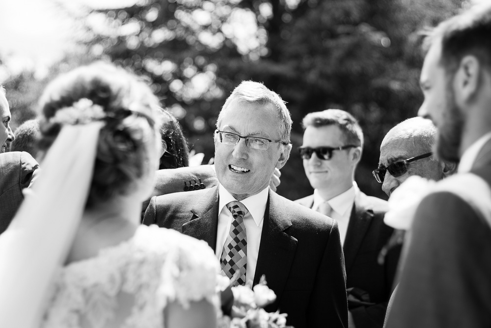 black and white father of groom