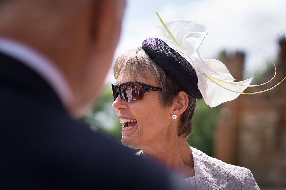 mother of the groom looking cool profile picture sunglasses