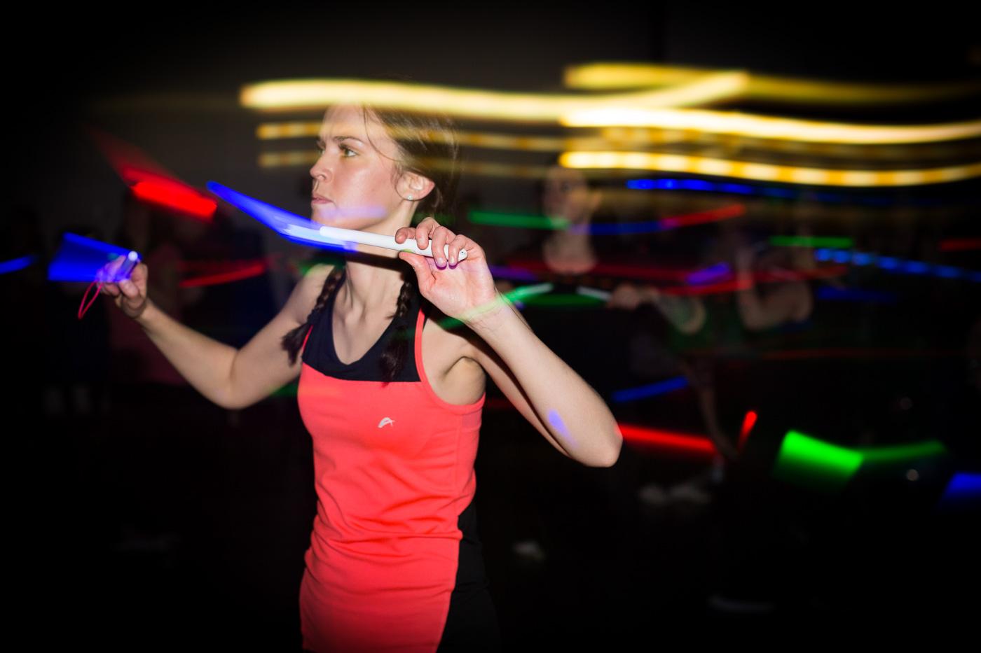 glowstick sweat class