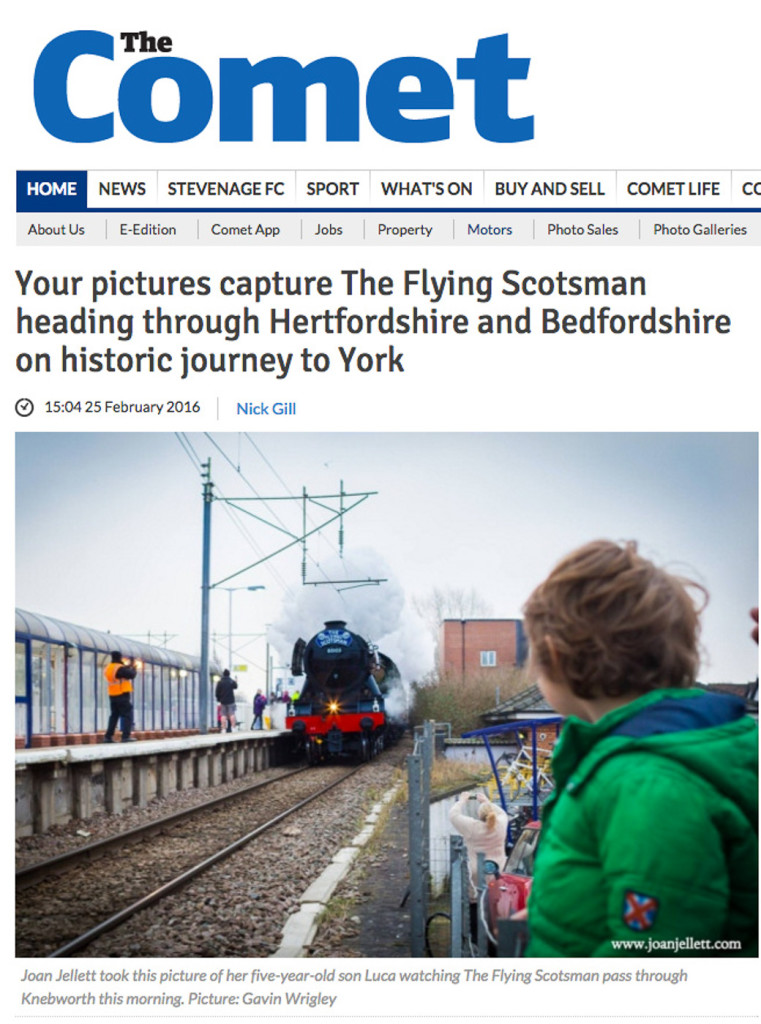 The flying scotsman the comet newspaper