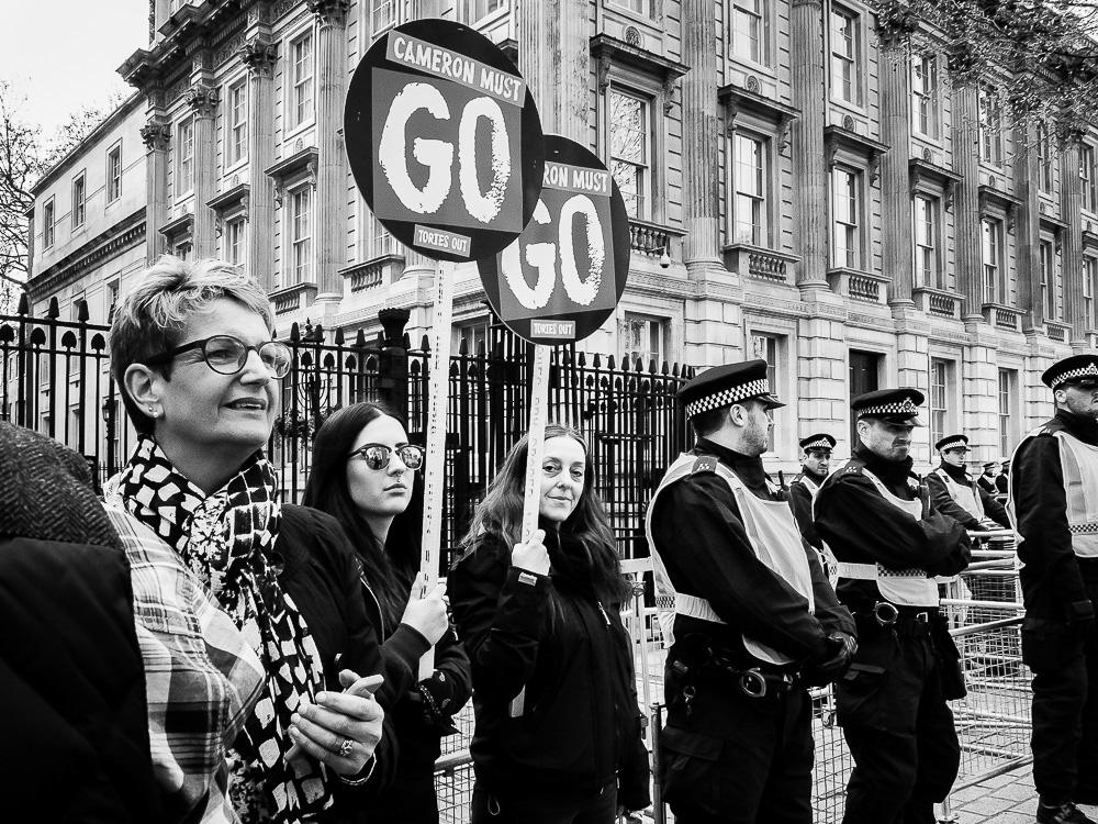 protest London david cameron must go