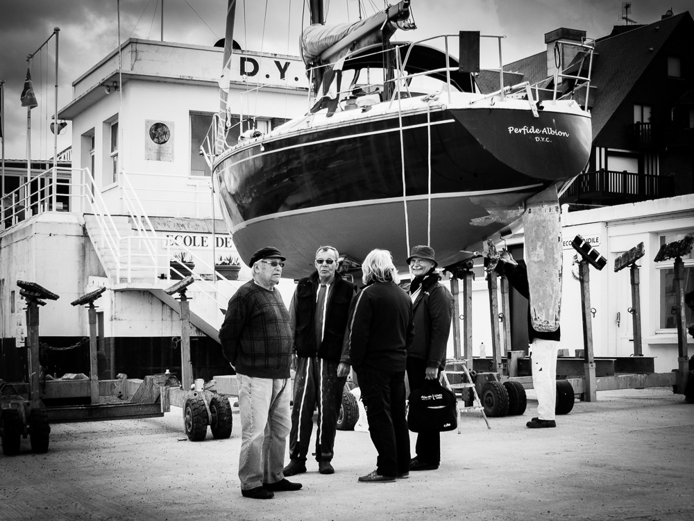 old men boat black and white documentary