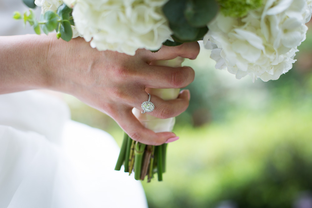 ring and bouquet shot
