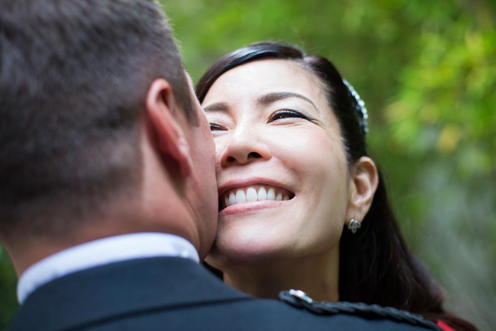 smiling happy bride