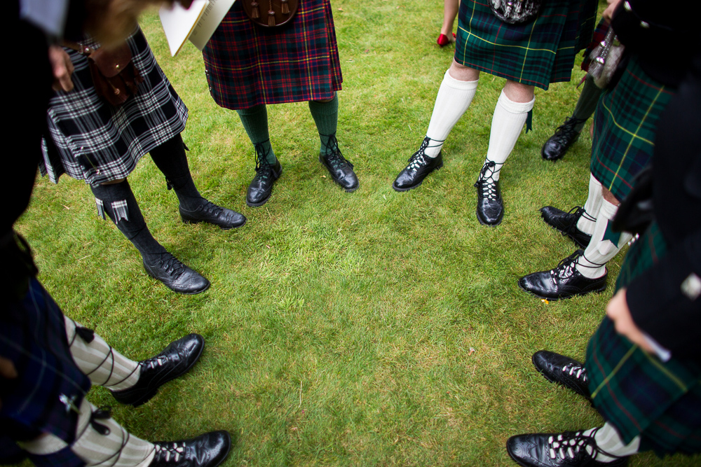 all men in kilts Oxford wedding