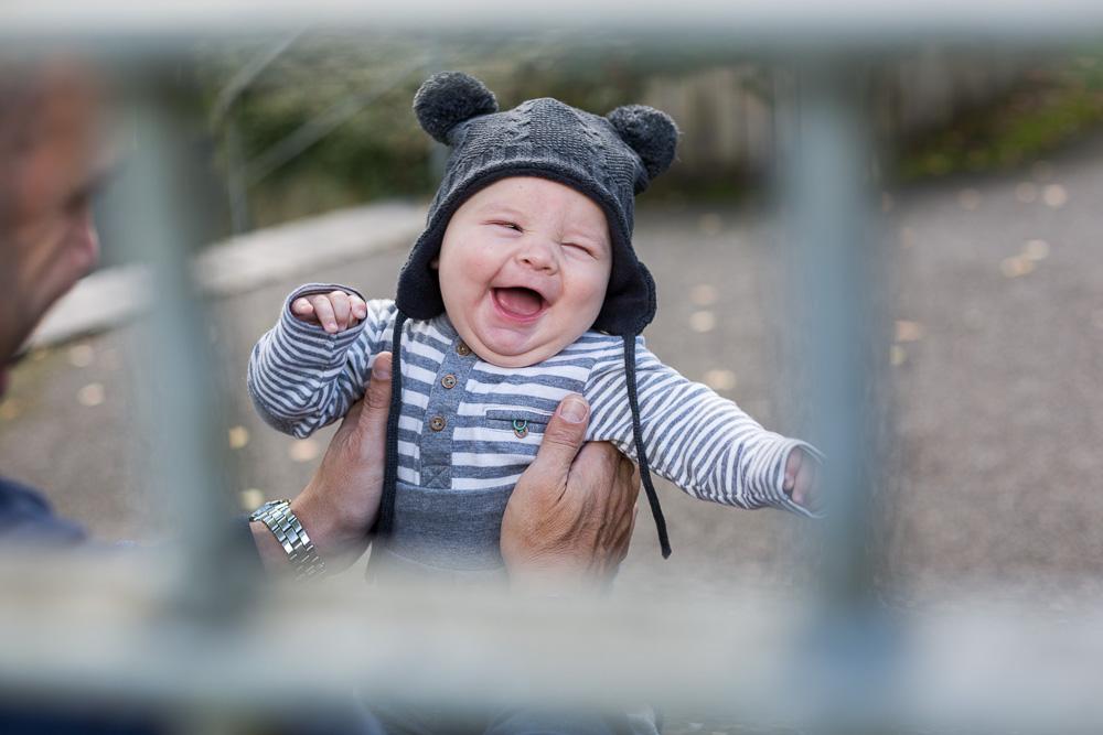 baby laughing hard