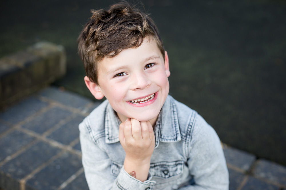 model portfolio of little boy