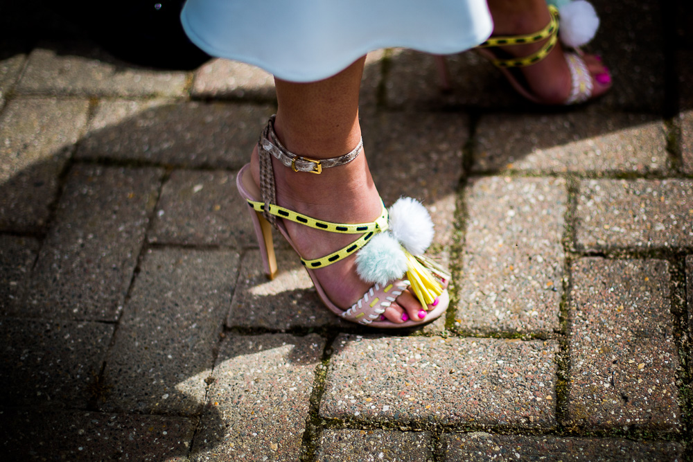 amazing bright shoes close up
