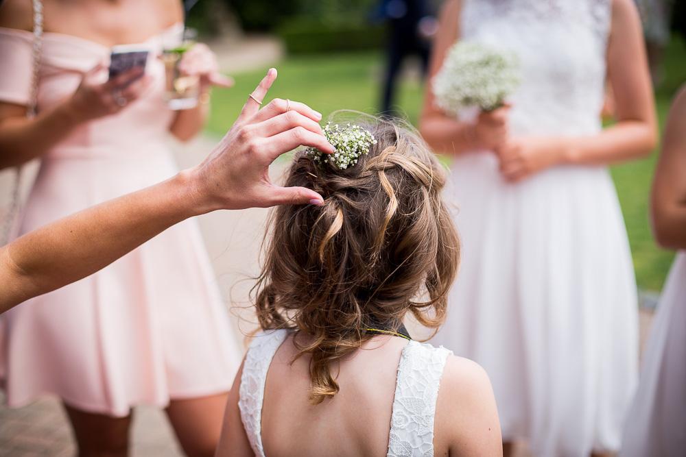 little bridesmaid's hair