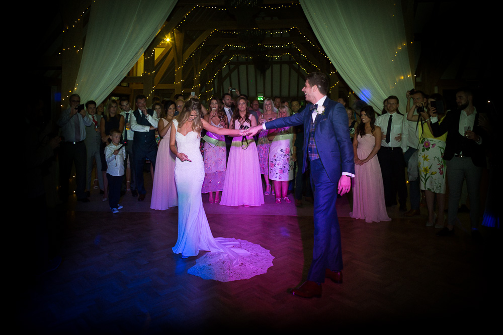 First dance at The old Kent Barn wedding