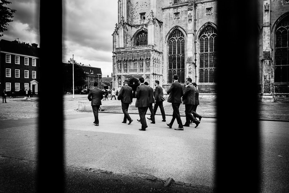 The groomsmen on route to The old Kent Barn wedding