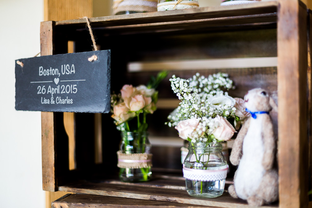 Detailed shot of The old Kent Barn wedding