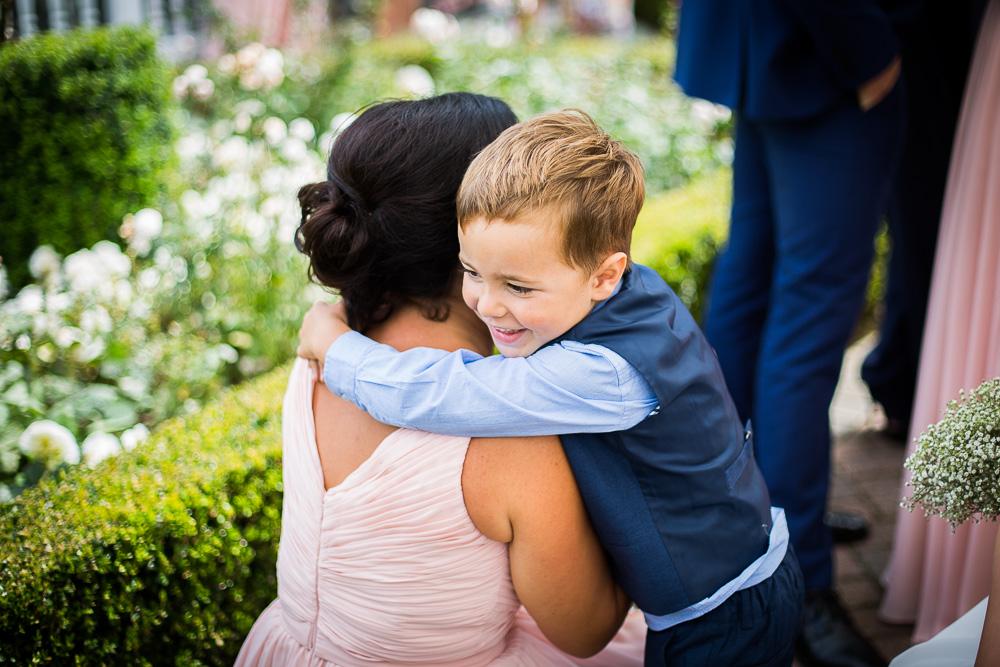little boy hugging his mummy