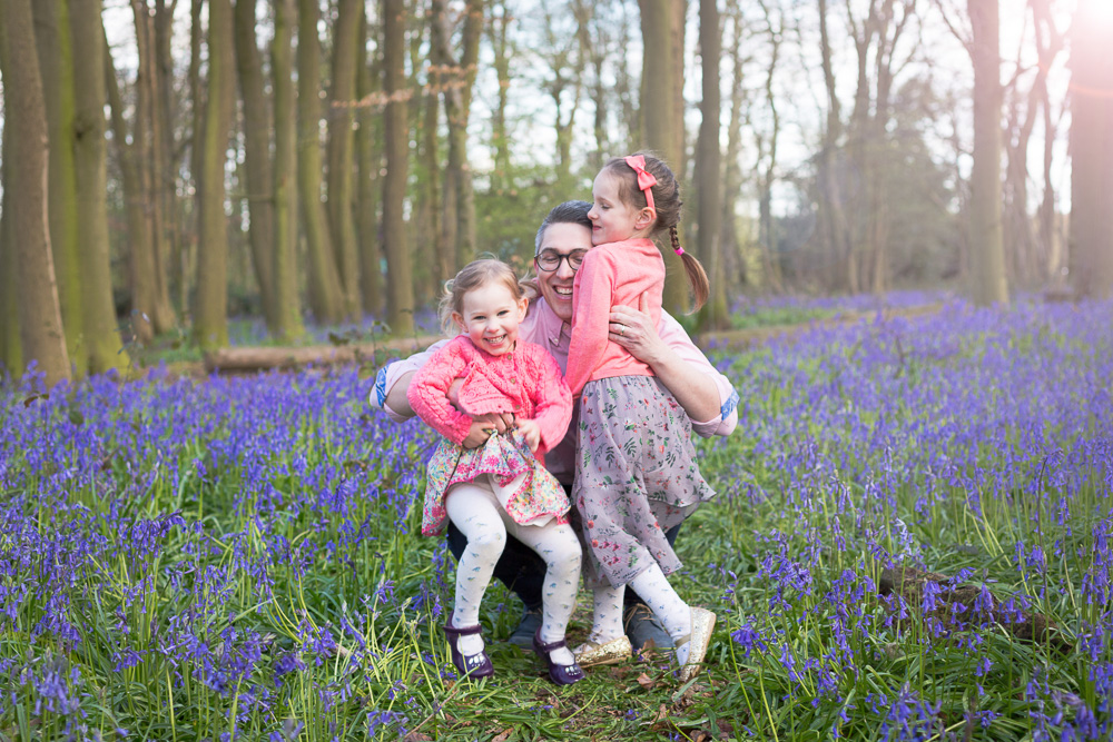 Bluebell photo shoot Hertfordshire