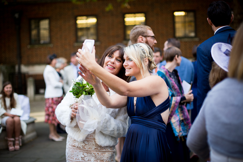 guests a temple church taking a selfie