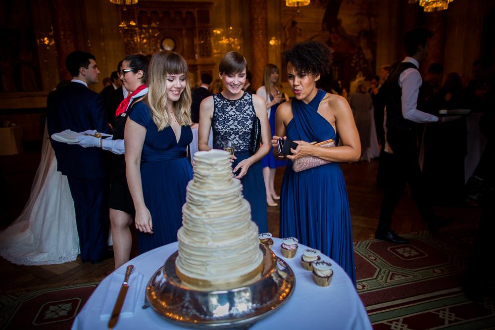 delicious looking wedding cake