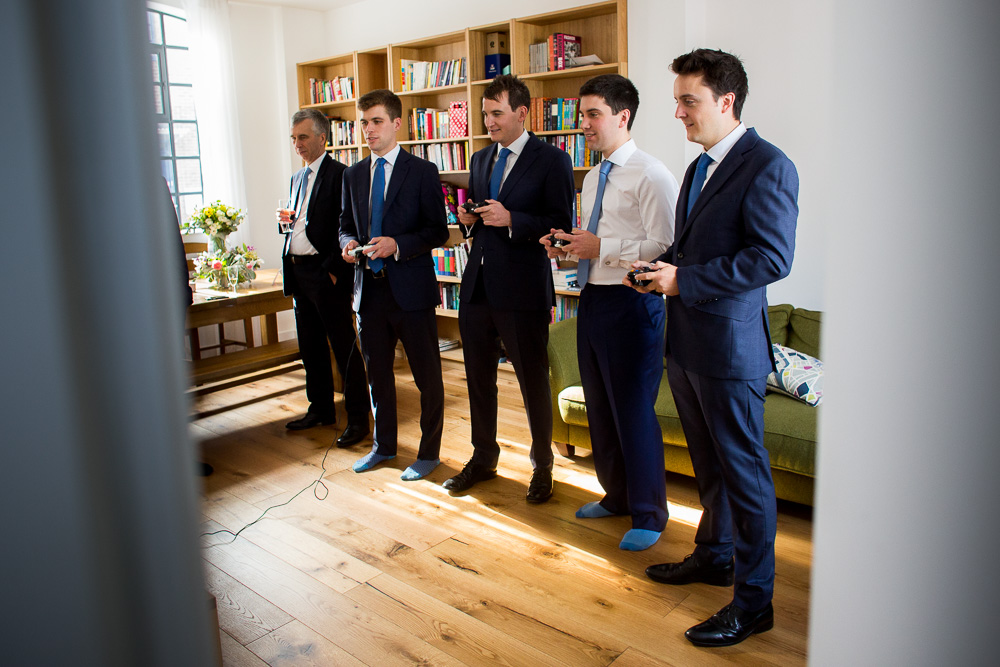 best men and groom before getting married at One whitehall place in London