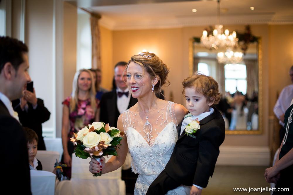 bride smiling at her groom in Petersham hotel