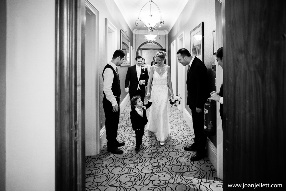 black and white shot on the landing of the Petersham hotel