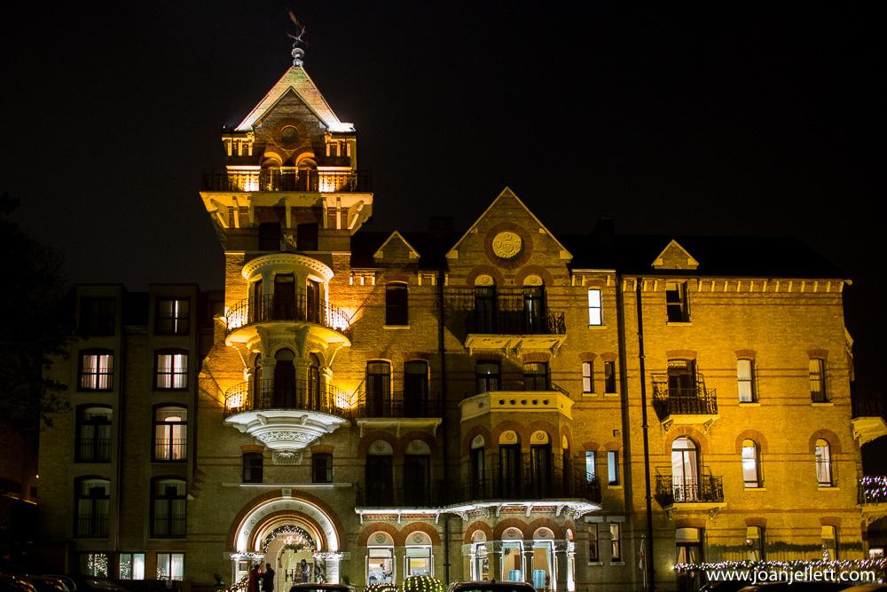 The Petersham Hotel lit up