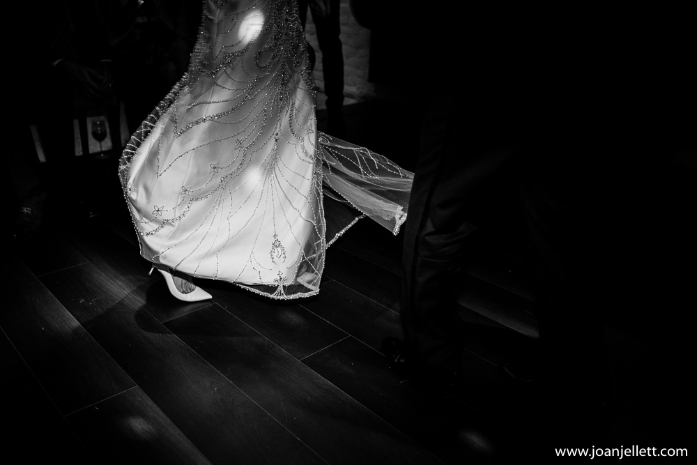 detailed shot of bride dansing