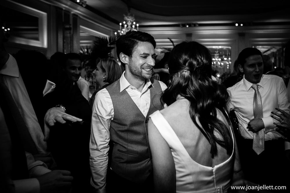groom dancing with his beautiful new bride