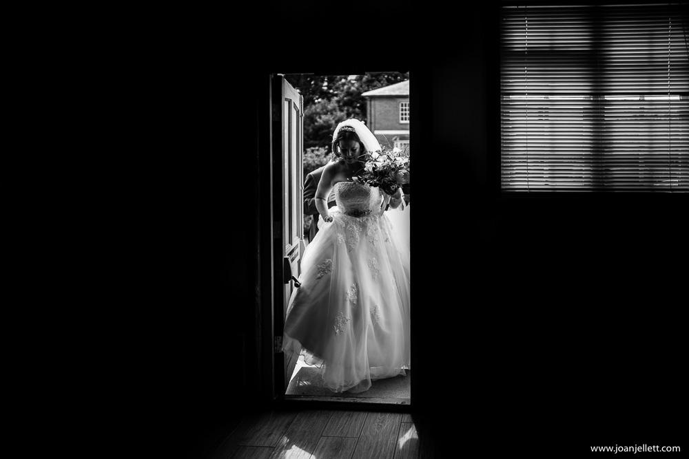 bride entering the reception room