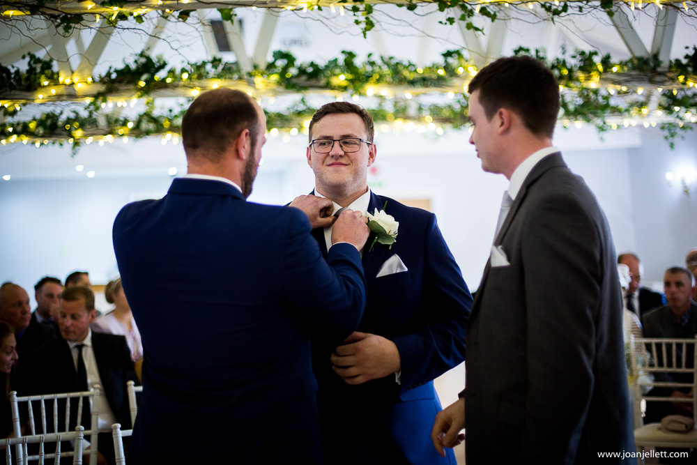 nervous groom with his best man