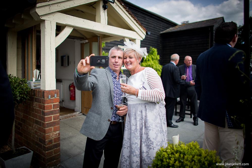 selfie couple outside