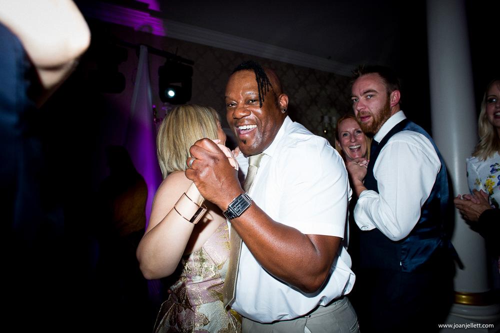 laughing dancing guests