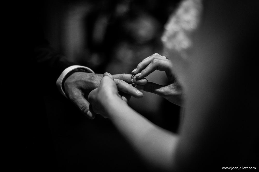 ring on groom's finger