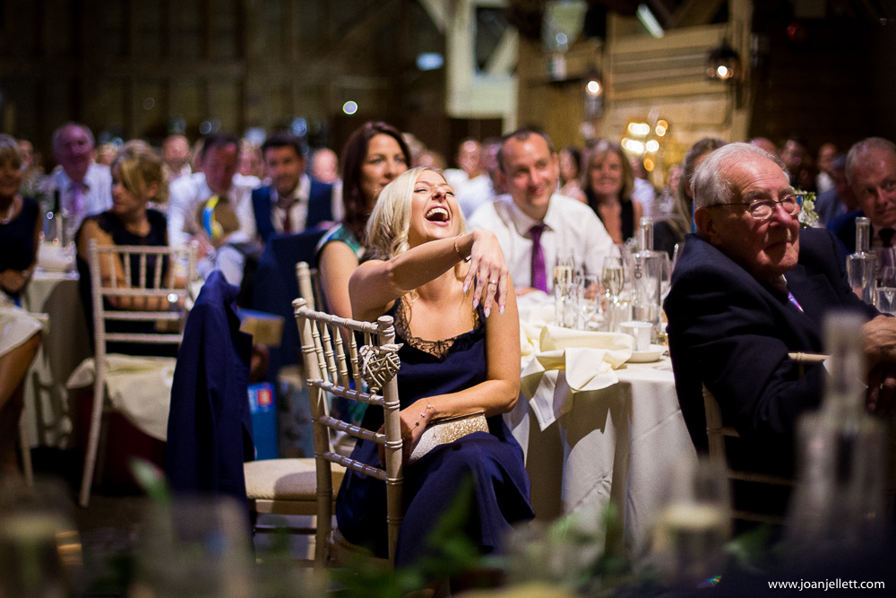 guest laughing with the guests