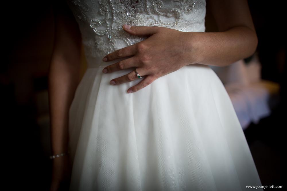 hand shot of the nervous bride