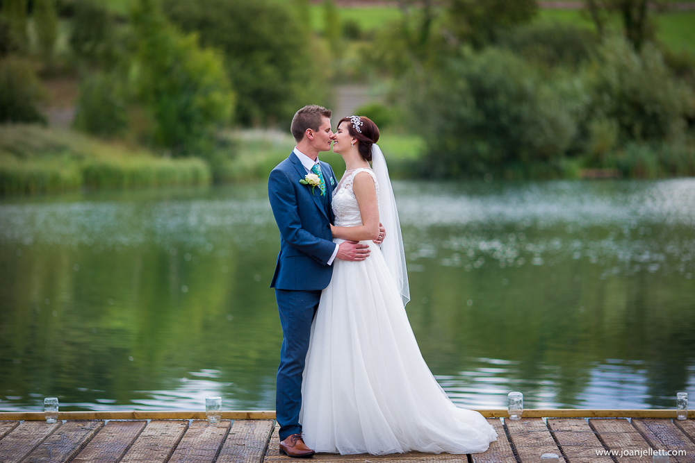 portrait of bride and groom at Westmill Farm