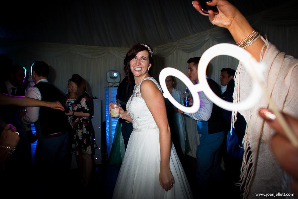 bride dancing in the disco