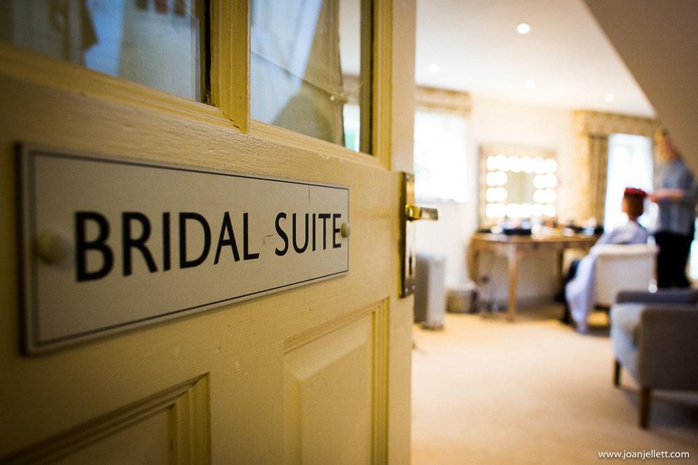bridal suite at South Farm