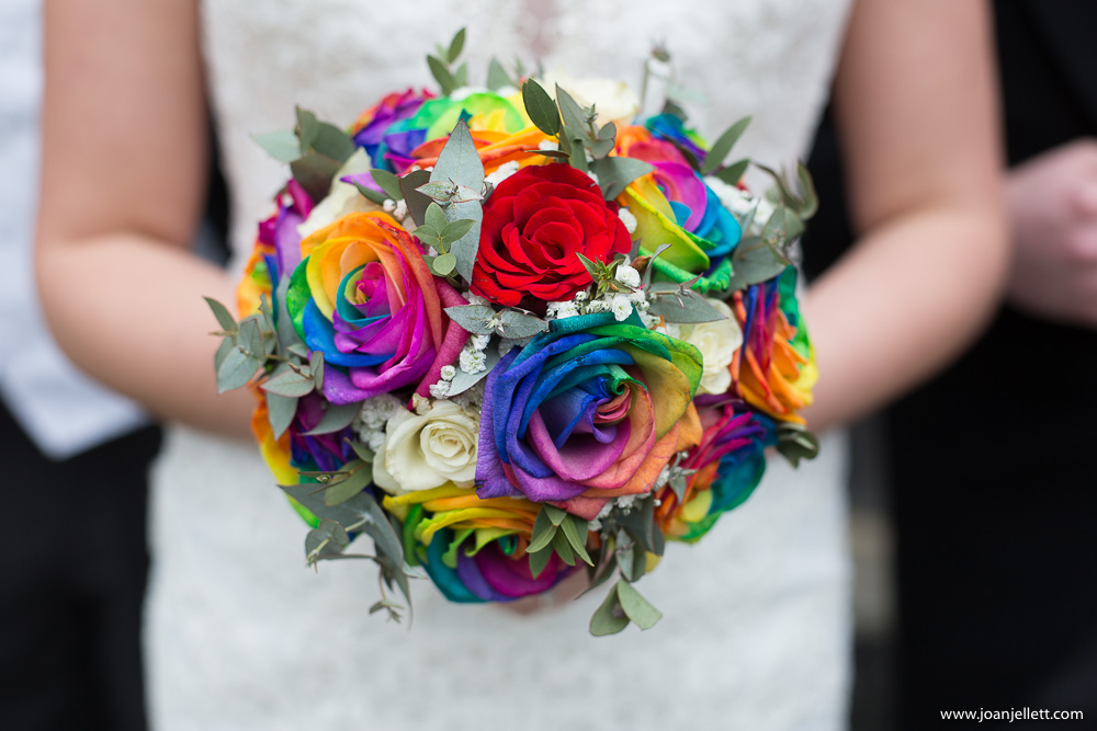 gorgeous colourful bouquet of flowers