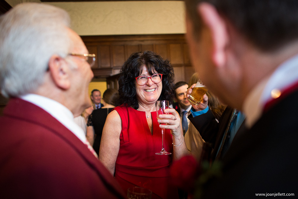 guests laughing during the cocktails