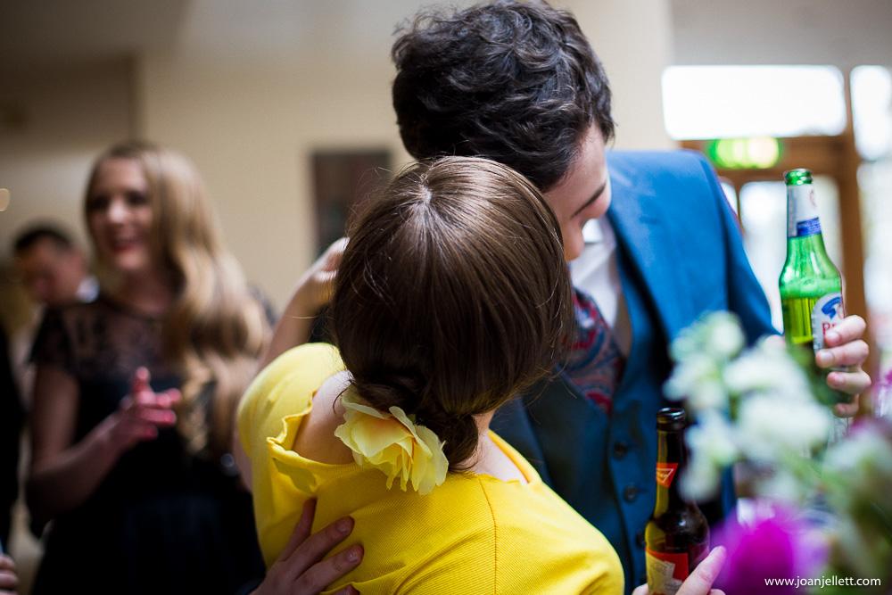 couple hugging and kidding