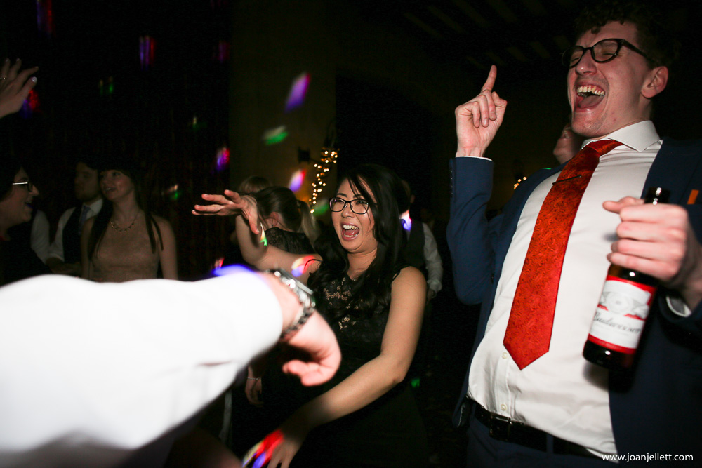 guests laughing and dancing