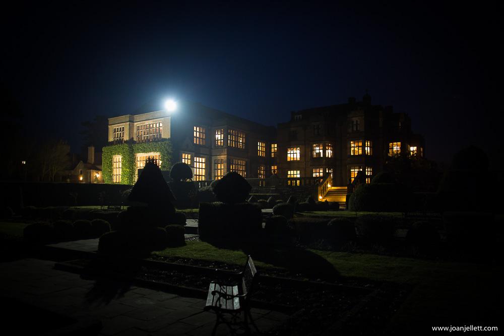 Fanhams hall by night