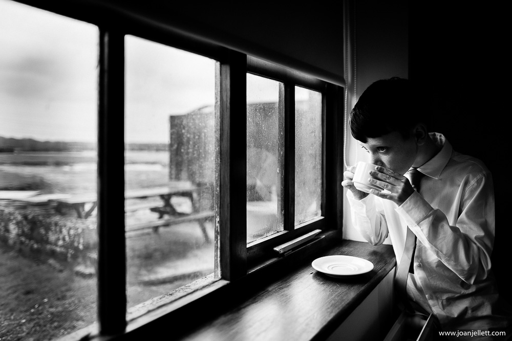 boy drinking tea
