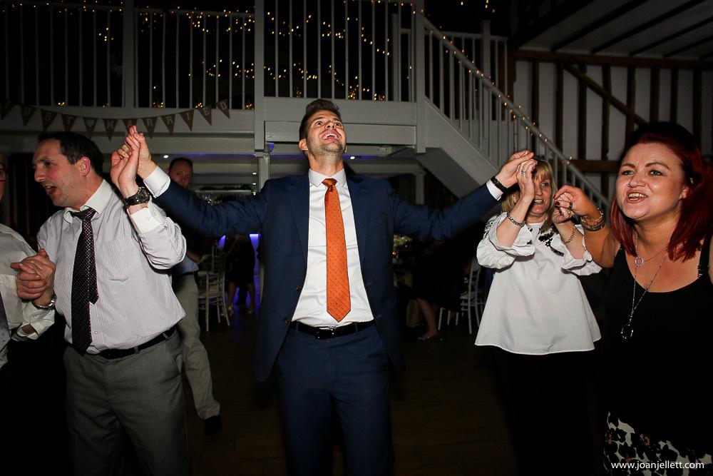 dancing man in Milling Barn Wedding Photographer