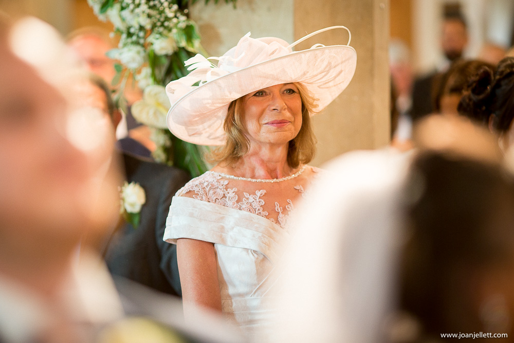 mother of the bride looking proud