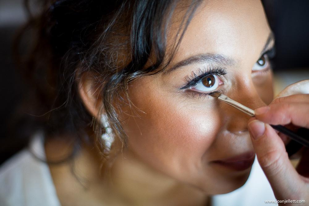 close up shot of eye makeup