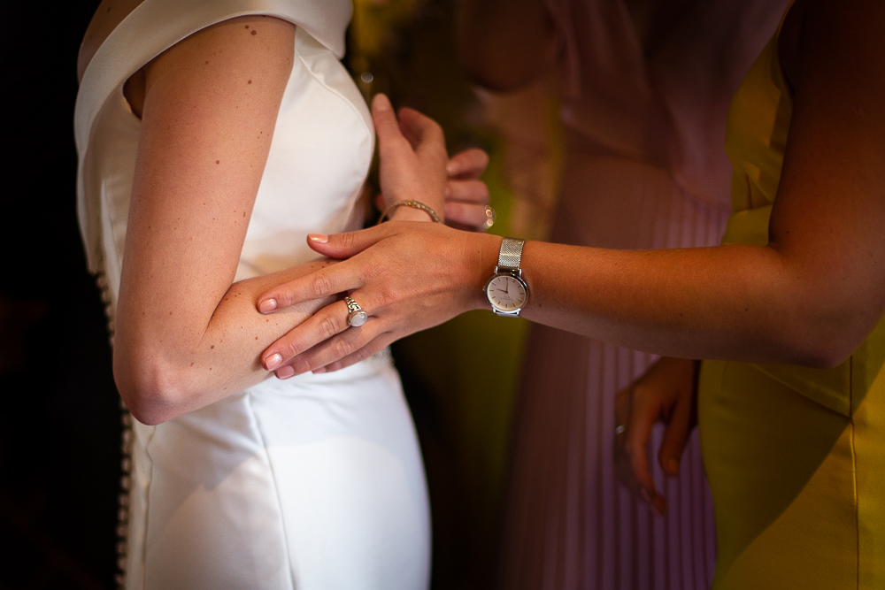 close up on hands of guests at Coltsfoot Country Retreat Wedding Photographer