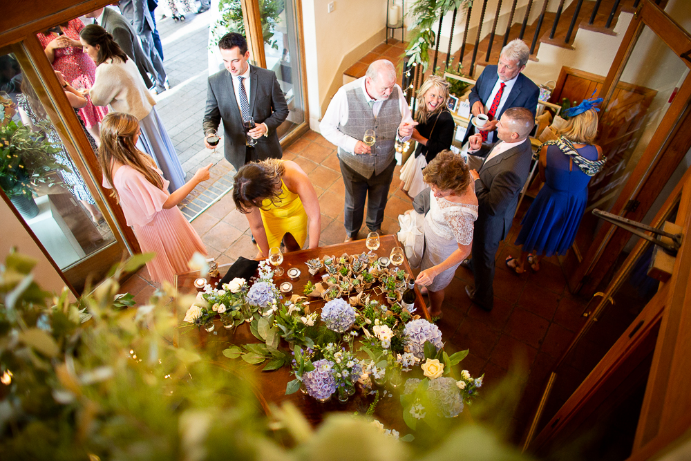 guests gathering in the foyer of Coltsfoot Country Retreat