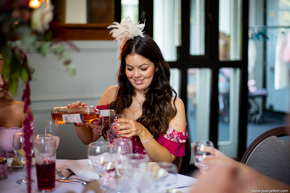 guests drinking at the table